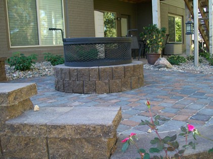 Patio and Firepit installation