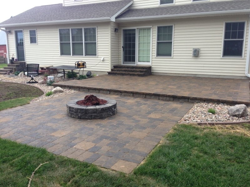 Hardscape Patio with Fire pit