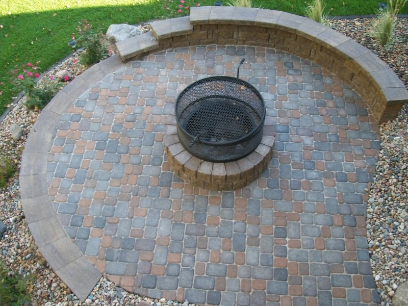 Patio with New Fire pit